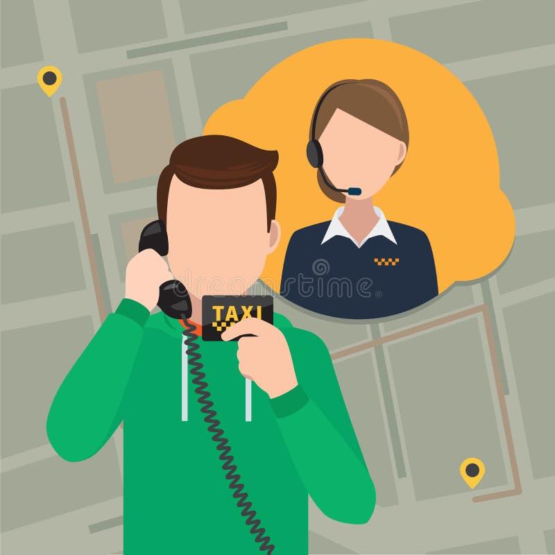 Llame un concepto del taxi libre illustration