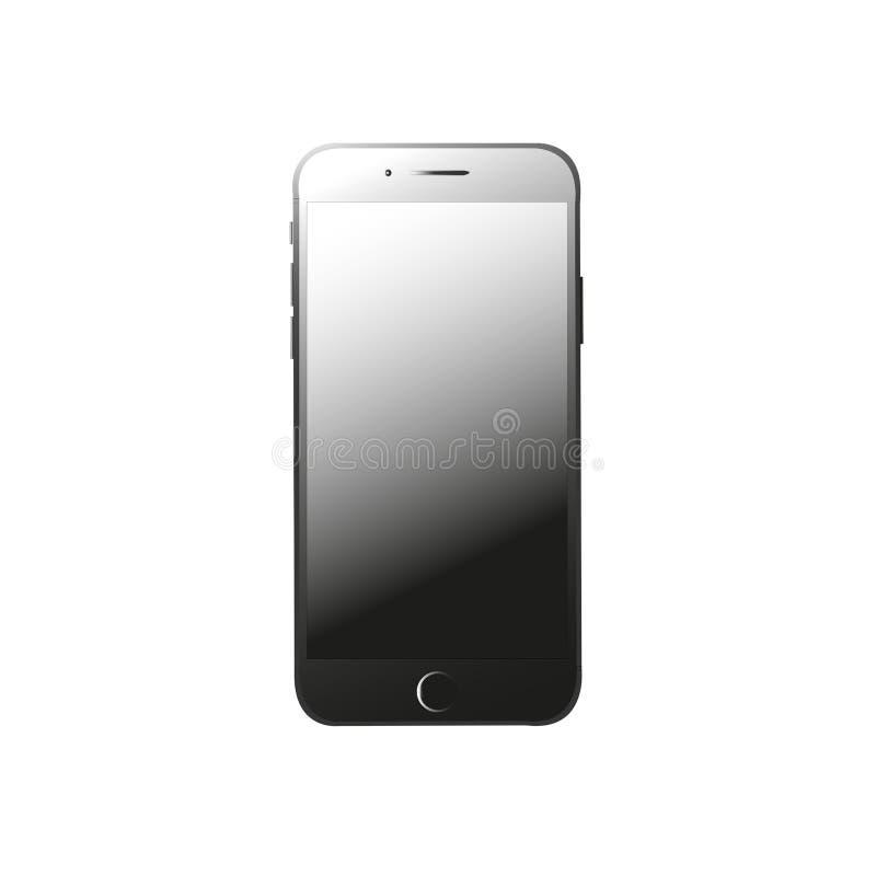 Llamo por teléfono a 7 en negro ilustración del vector