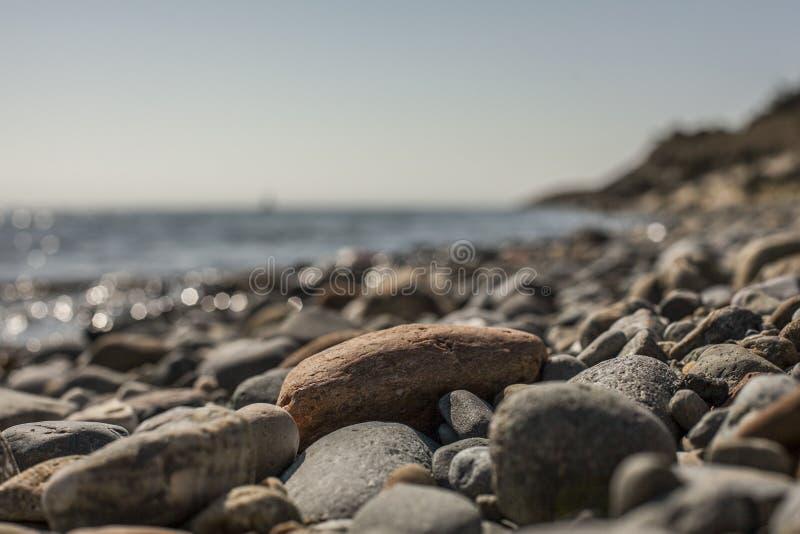 Llanbedrog, Gales norte, o Reino Unido - a praia foto de stock royalty free