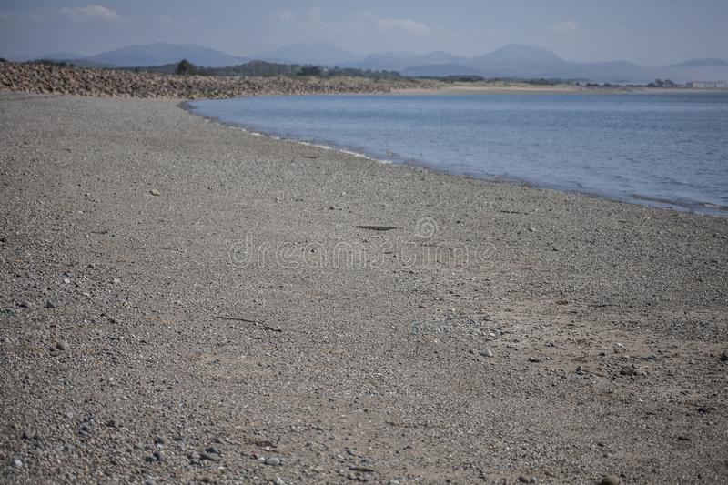 Llanbedrog, la vista della spiaggia fotografie stock libere da diritti