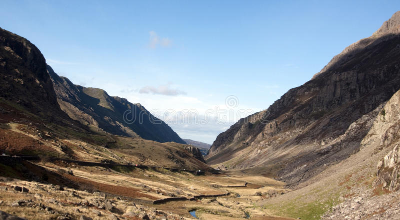 Llanberis Pass in Snowdonia North wales. The llanberis pass in North Wales royalty free stock image