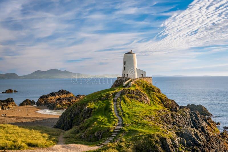 Llanddwyn海岛灯塔 库存图片