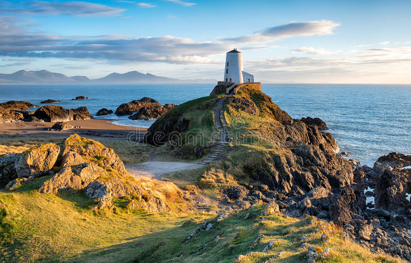 Llanddwyn海岛 库存照片
