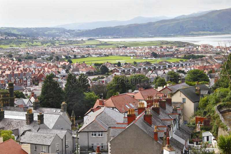 Llandudno. Town and buildings, North Wales UK royalty free stock photography