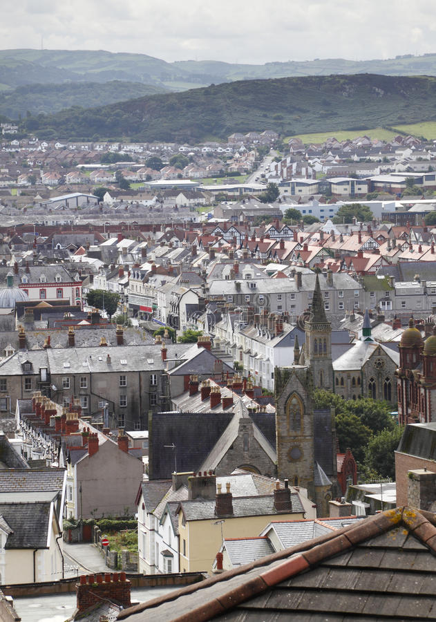 Llandudno. Town and buildings, North Wales UK royalty free stock images
