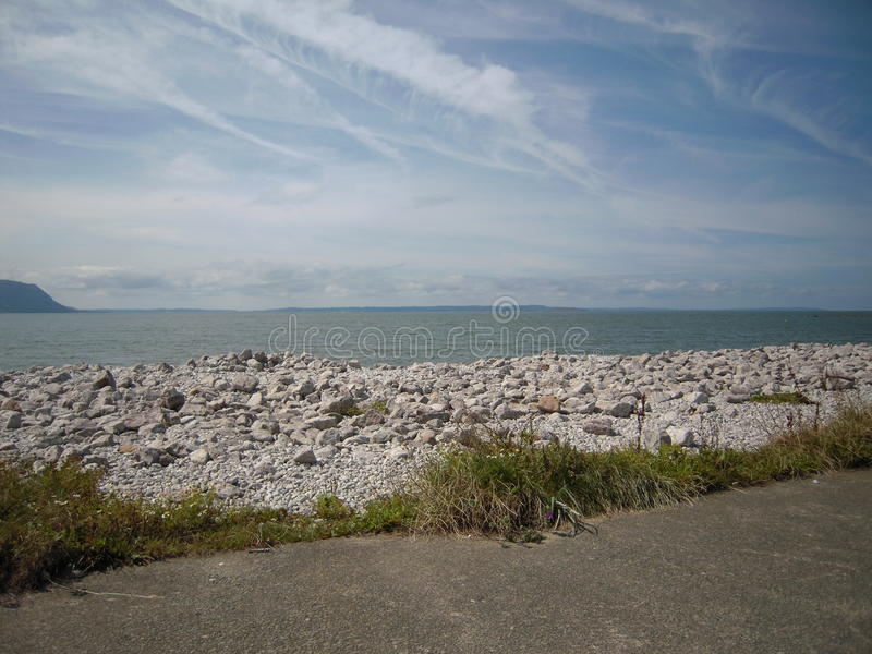 LLandudno, Beautiful Wales. Taken from the Llandudno site seeing train. Nice weather royalty free stock images