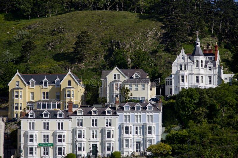 Llandudno, hoofdartikel het Noord- van Wales, het UK 06/06/2015 Mening over hotels royalty-vrije stock fotografie