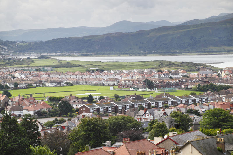 Llandudno landscape. Llandudno town landscape and buildings, North Wales UK stock photos