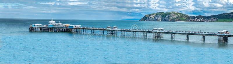 Llandudno molo jest molem w kurorcie nadmorskim Llandudno, Północny Walia, Zjednoczone Królestwo fotografia royalty free