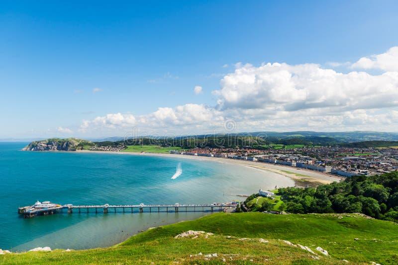 Llandudno Overzeese Voorzijde in Noord-Wales, het Verenigd Koninkrijk stock afbeeldingen