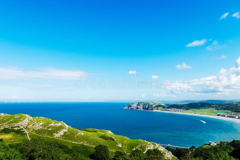 Llandudno Overzeese Voorzijde in Noord-Wales, het Verenigd Koninkrijk royalty-vrije stock foto