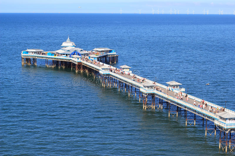 Llandudno Pier. In North Wales. UK. This is a very old pier and popular with visitors to this unspoilt seaside town. Landscape royalty free stock images