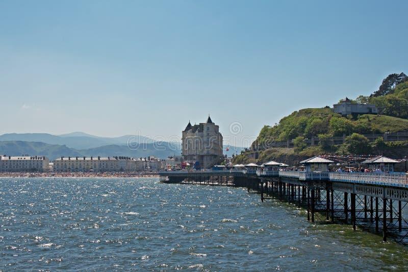 Llandudno pier in Wales UK, royalty free stock image
