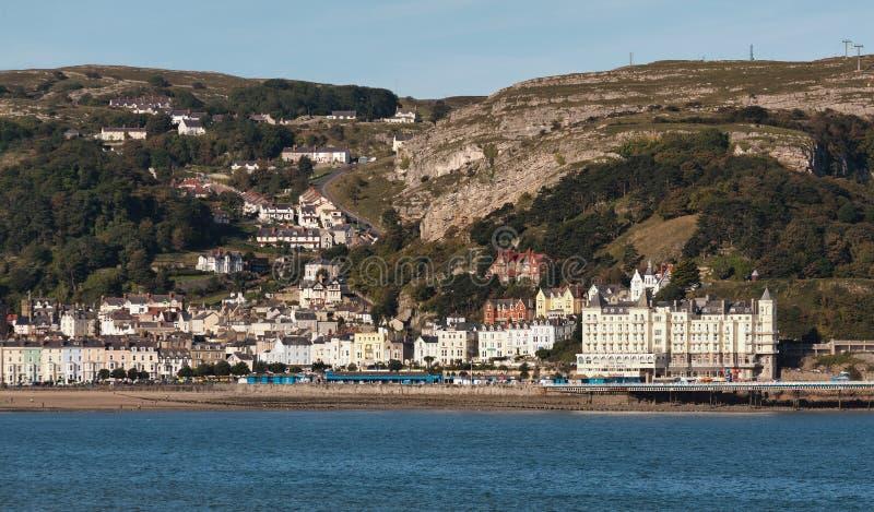 LLANDUDNO, WALES/UK - 7 DE OUTUBRO: Vista de LLandudno em Gales sobre foto de stock royalty free