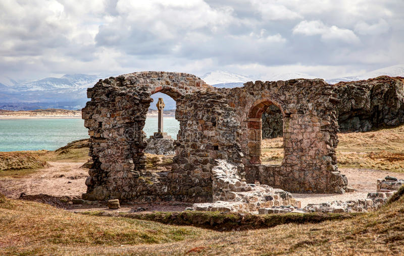 Llandwyn-Insel stockfoto