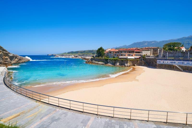 Llanes El Sablon beach in Asturias Spain. Llanes El Sablon beach in Asturias of Spain stock photos