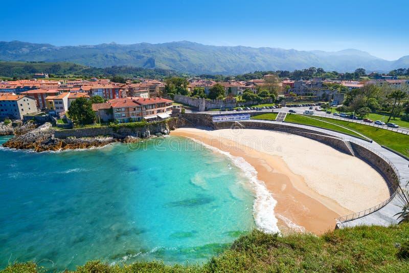 Llanes El Sablon beach in Asturias Spain. Llanes El Sablon beach in Asturias of Spain royalty free stock photo