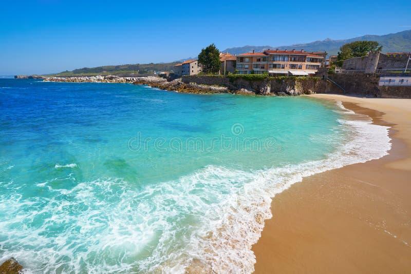Llanes El Sablon beach in Asturias Spain. Llanes El Sablon beach in Asturias of Spain royalty free stock photography