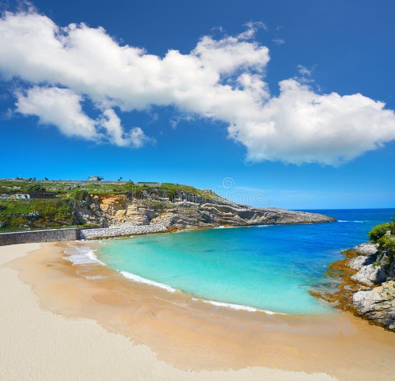 Llanes El Sablon beach in Asturias Spain. Llanes El Sablon beach in Asturias of Spain royalty free stock images