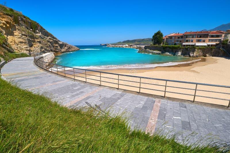 Llanes El Sablon beach in Asturias Spain. Llanes El Sablon beach in Asturias of Spain stock image