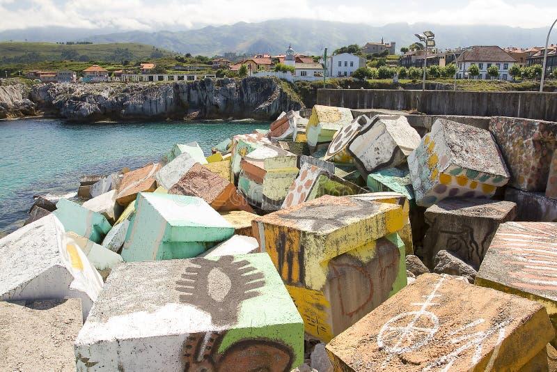 Llanes, Espanha fotos de stock royalty free