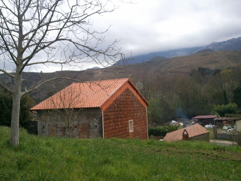 Llanes house pyrenees royalty free stock photo