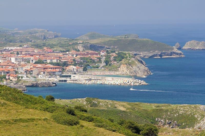 Llanes, Spain. View of Llanes, Asturias, Spain royalty free stock photos