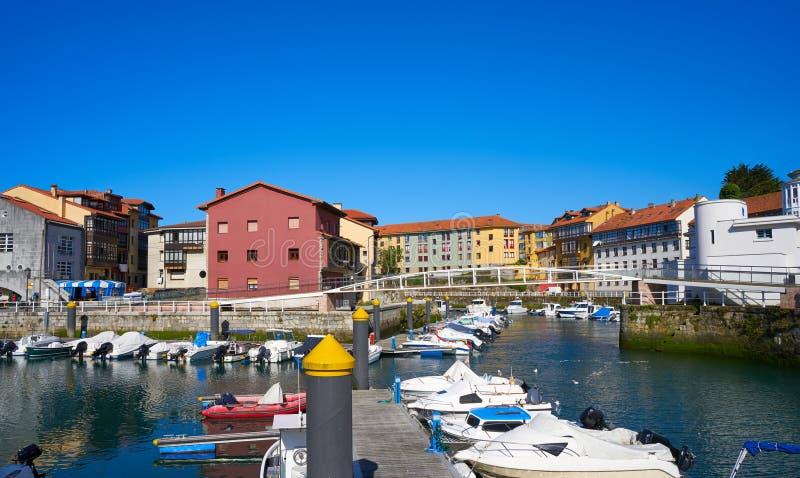 Llanes village port marina in Asturias Spain. Llanes village port marina in Asturias of Spain stock images