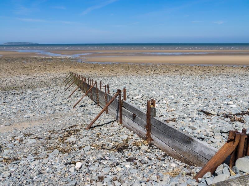Llanfairfechan-Strand stockbild