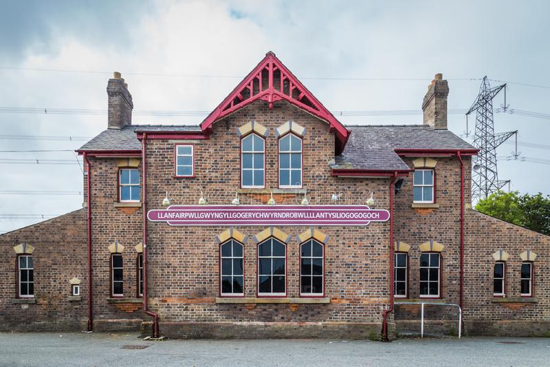 Llanfairpg, Anglesey-eiland, Wales, het UK stock foto