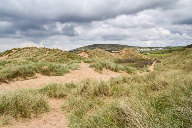 Llangennith-Strand Wales lizenzfreies stockbild
