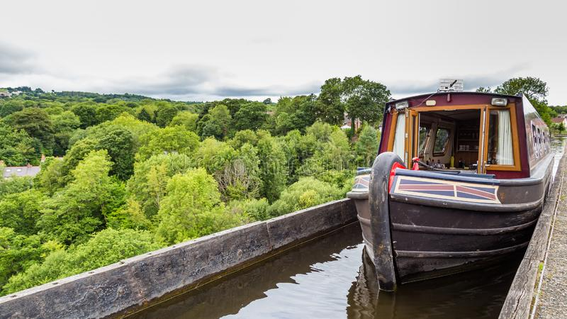 Llangollen Aqueduct in Wales, UK stock photos