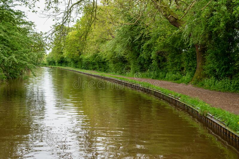 Llangollen canal scenery stock photography