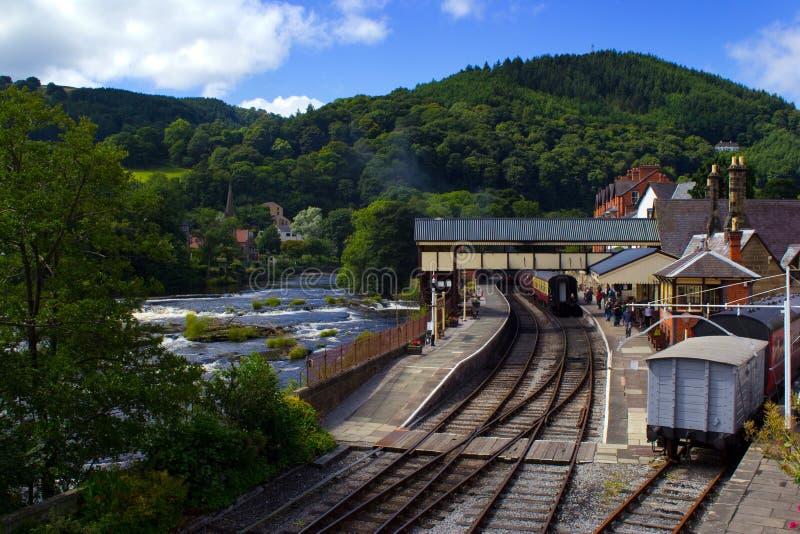 Llangollen konservierte Bahnhof lizenzfreies stockbild