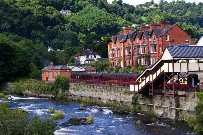 Llangollen Preserved Railway Station stock images
