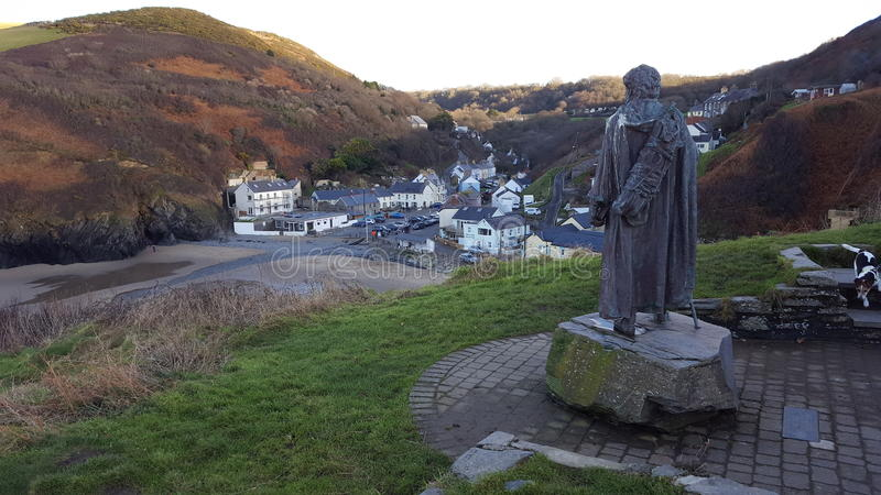 Llangranog País de Gales foto de archivo