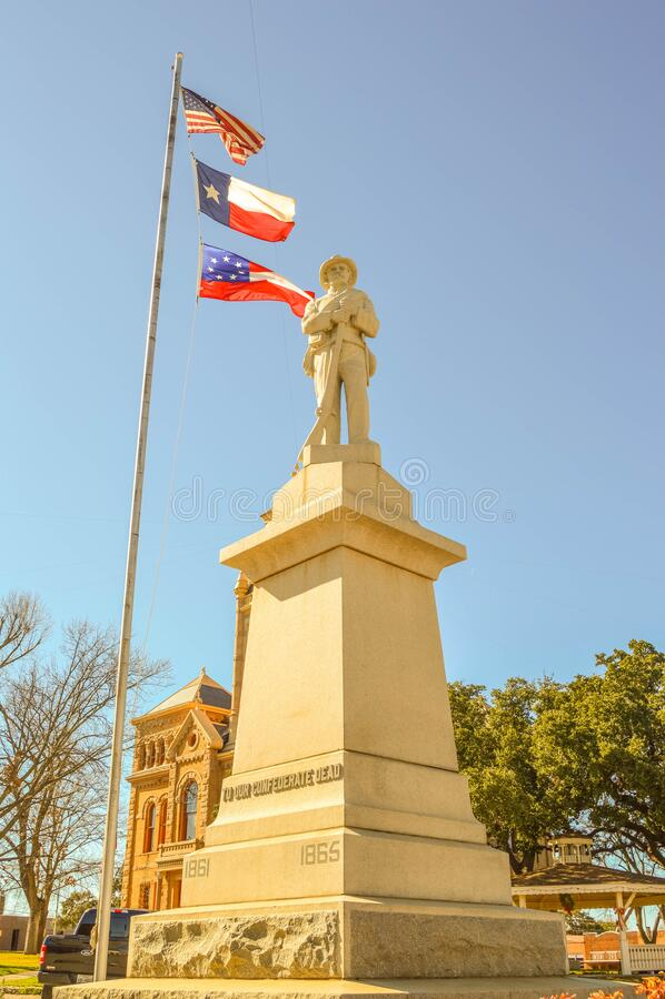 Confederate monument in Llano Texas. Llano County Confederate Monument Llano, Texas stock photo