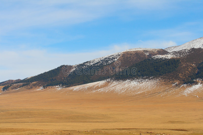 Llano de la montaña fotos de archivo