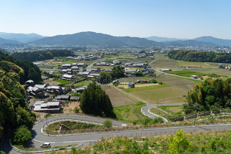 Llano de Toyohashi cerca de la ciudad de Shinsiro fotos de archivo libres de regalías