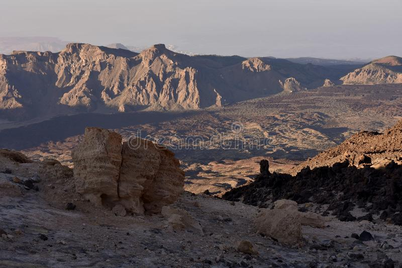Volcanic valley Teide National Park Tenerife royalty free stock photography