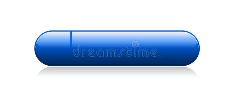 Llano del botón de la web stock de ilustración