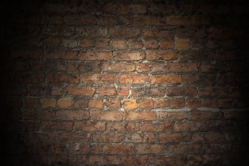Llano rojo viejo de la pared de ladrillo fotos de archivo