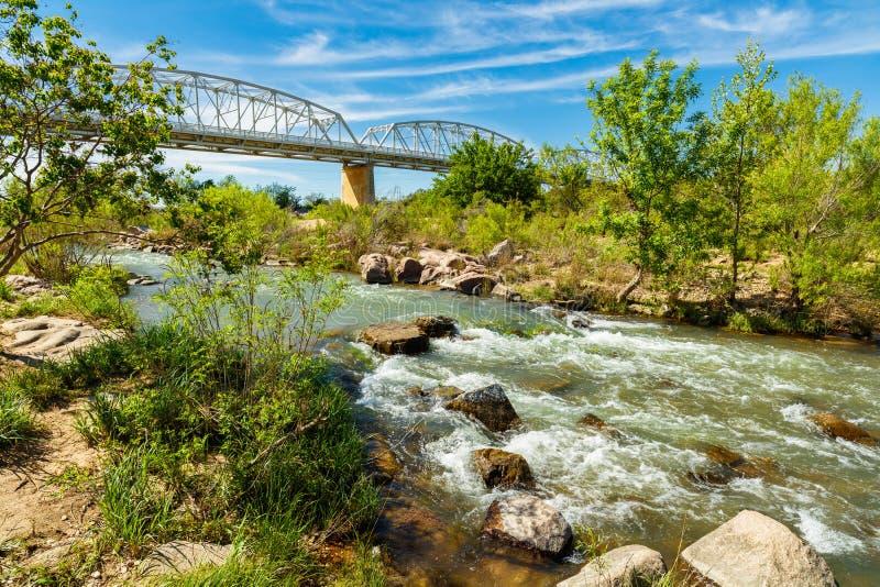 Llano Texas Bridge royaltyfri fotografi