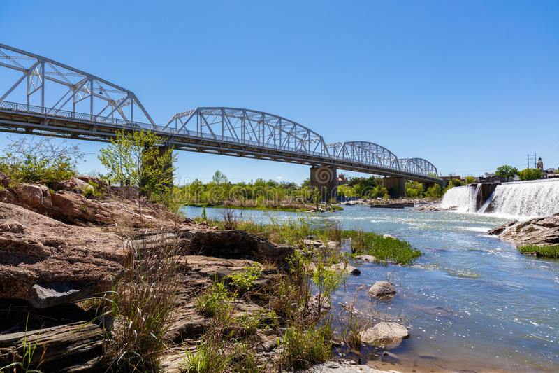 Llano Texas Bridge royaltyfri bild