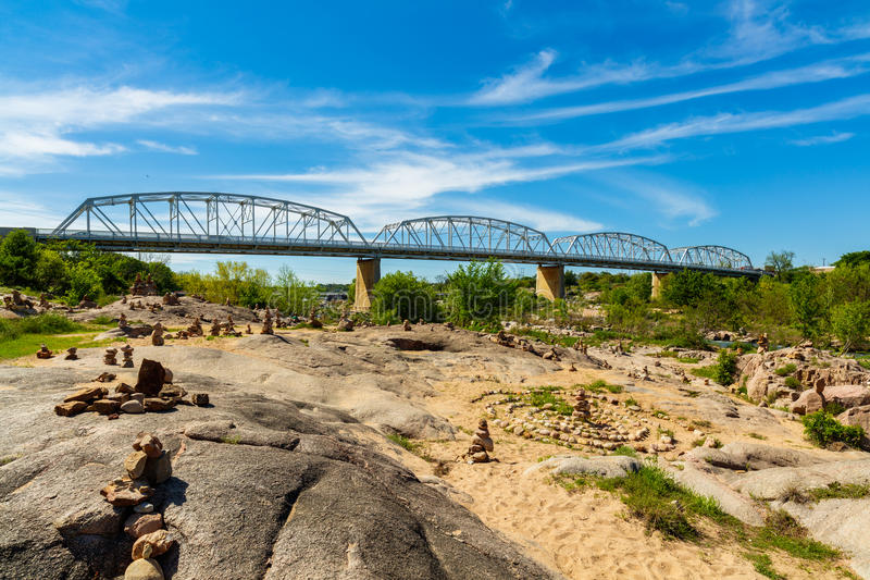 Llano Texas Bridge stock images