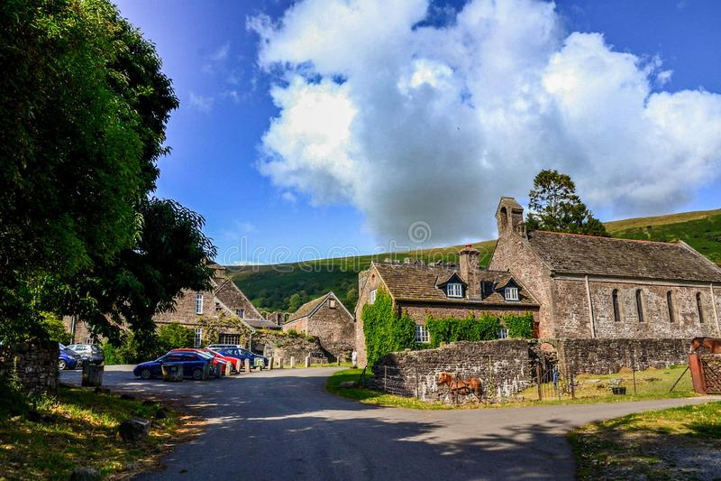Llanthonypriorij, Brecon-Bakens, Wales, het Verenigd Koninkrijk royalty-vrije stock foto