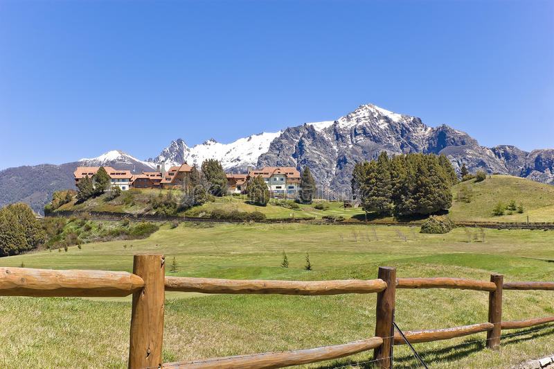 Llao Llao. De toevlucht van het hotel in de bergen. stock fotografie