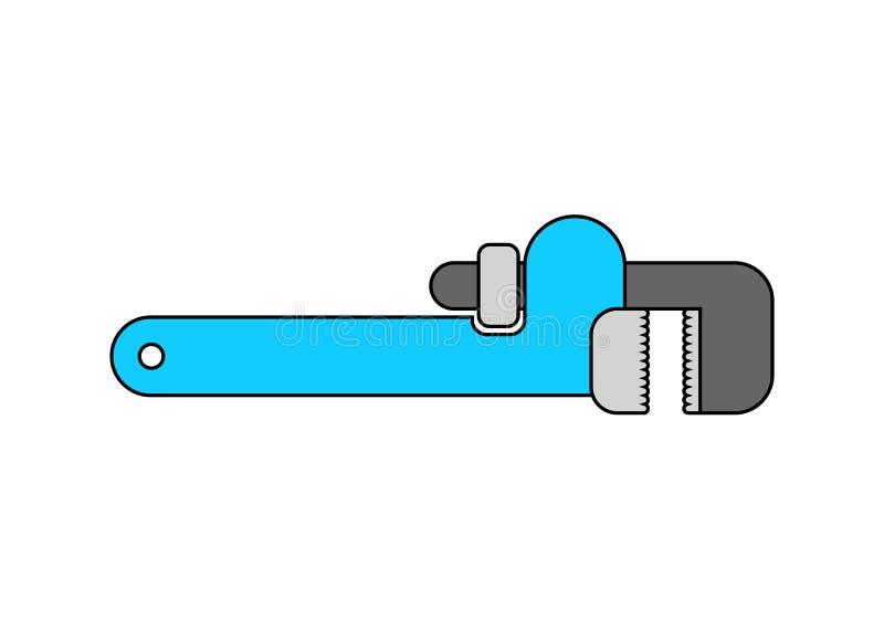 Llave ajustable aislada Herramienta en el fondo blanco industrial libre illustration