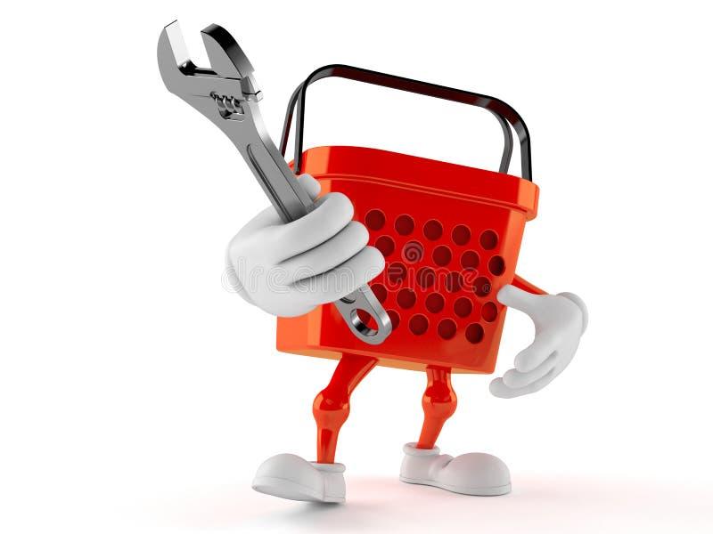 Llave ajustable del carácter de la cesta de compras libre illustration