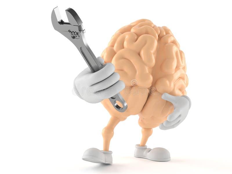 Llave ajustable del carácter del cerebro libre illustration